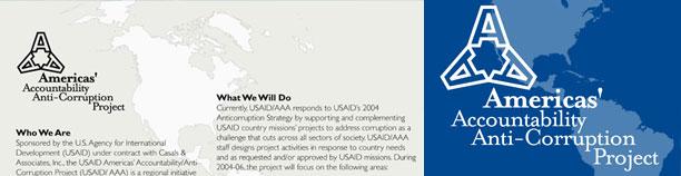 Americas' Accountability Anti-Corruption Project brochure
